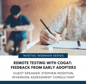 Remote Testing with the CogAT